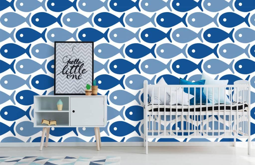 Wassertiere - Blaue Fische - Kinderzimmer 6
