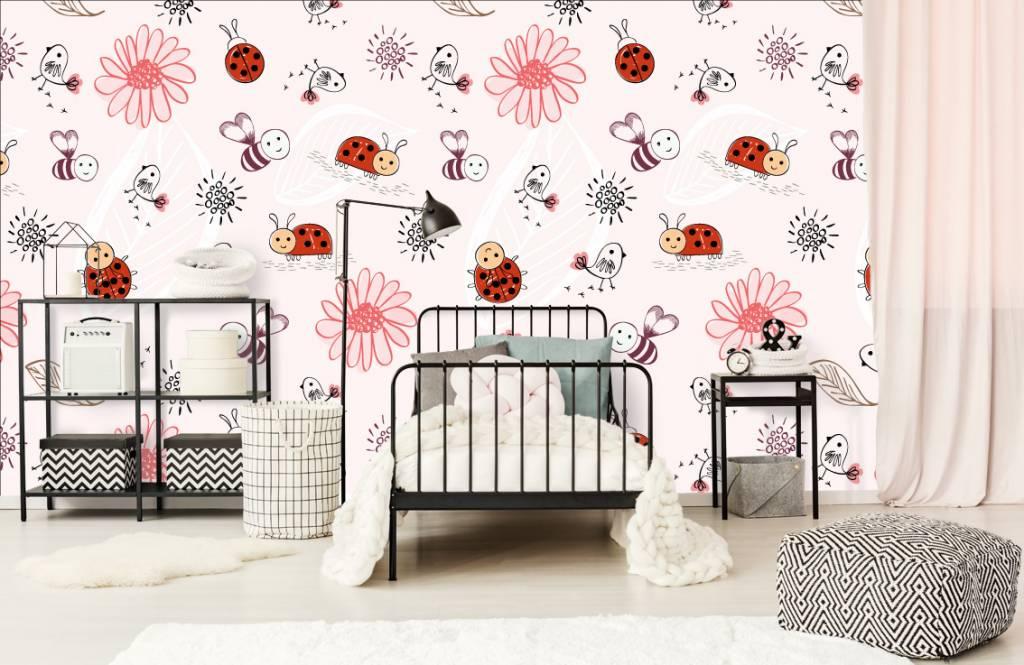 Baby Tapete - Blumen und Käfer - Babyzimmer 2