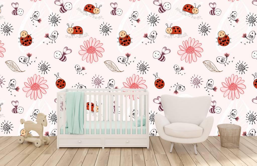 Baby Tapete - Blumen und Käfer - Babyzimmer 6
