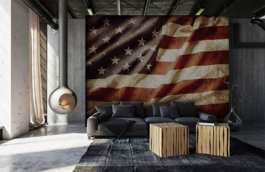 Jungenzimmer Tapete - Amerikanische Flagge - Jugendzimmer 1