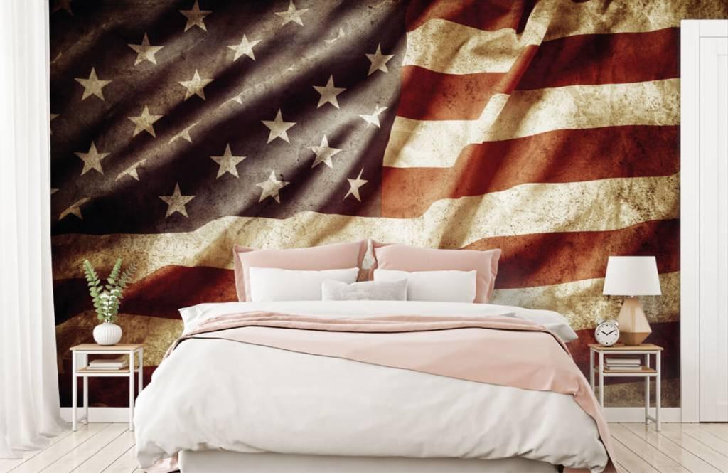 Jungenzimmer Tapete - Amerikanische Flagge - Jugendzimmer 3