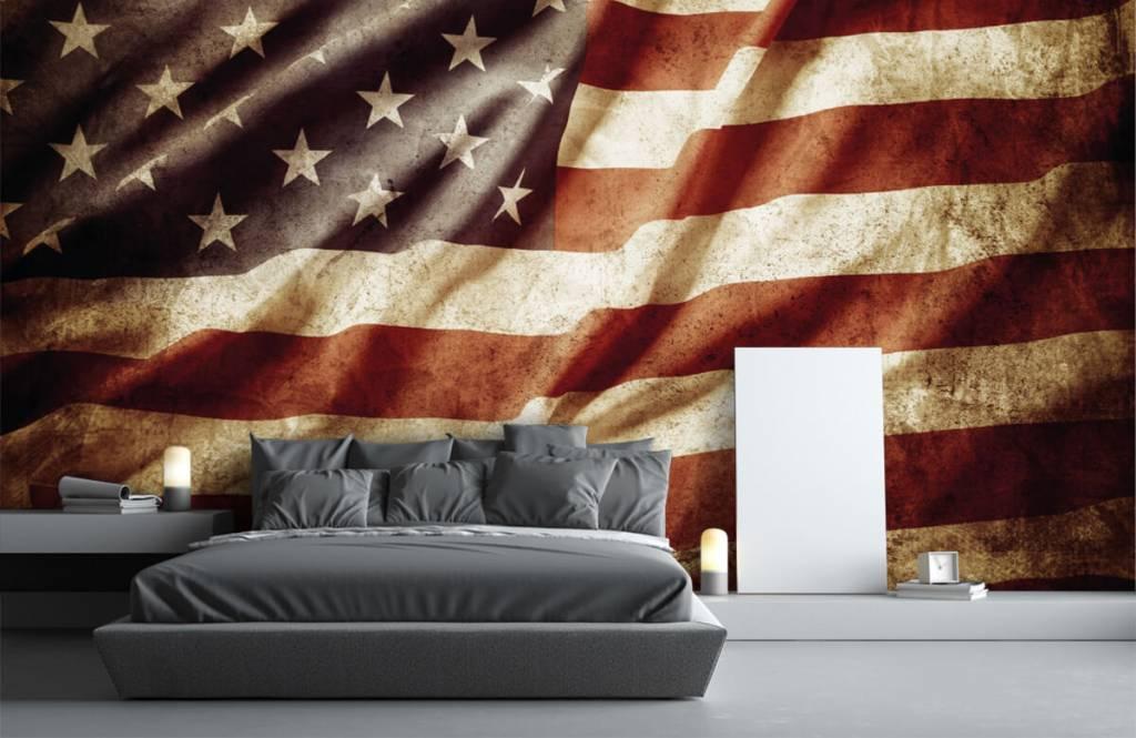 Jungenzimmer Tapete - Amerikanische Flagge - Jugendzimmer 4