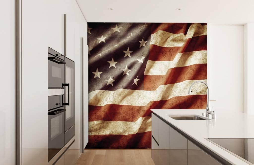 Jungenzimmer Tapete - Amerikanische Flagge - Jugendzimmer 5