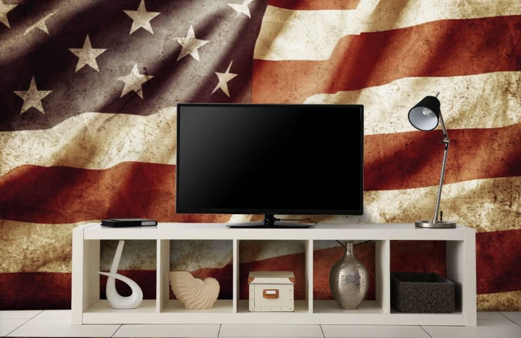 Jungenzimmer Tapete - Amerikanische Flagge - Jugendzimmer 6