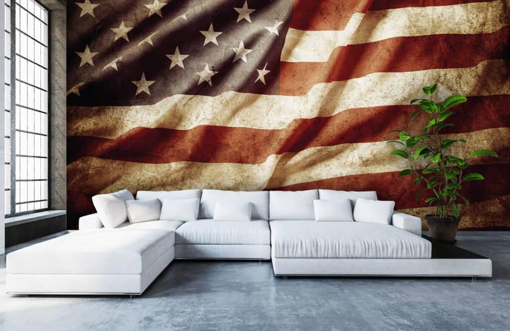 Jungenzimmer Tapete - Amerikanische Flagge - Jugendzimmer 7