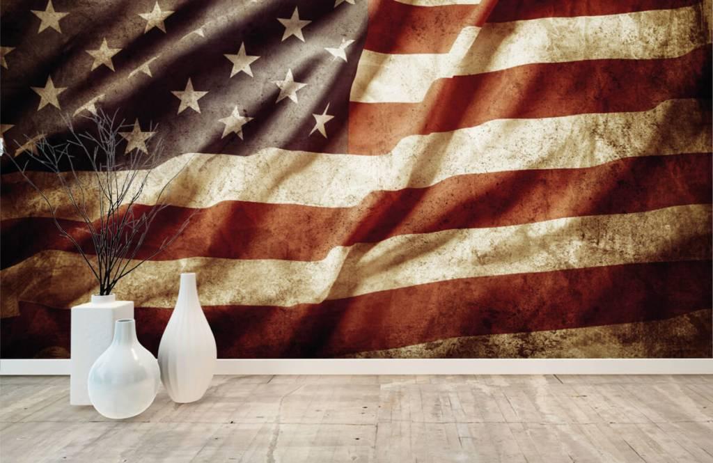Jungenzimmer Tapete - Amerikanische Flagge - Jugendzimmer 8