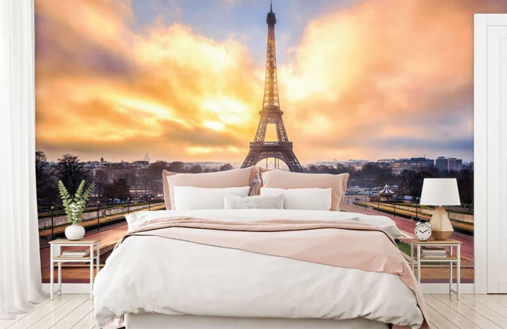Städte - Tapete - Eiffelturm - Schlafzimmer 2