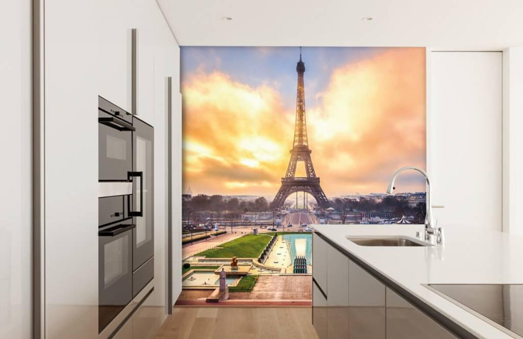 Städte - Tapete - Eiffelturm - Schlafzimmer 4