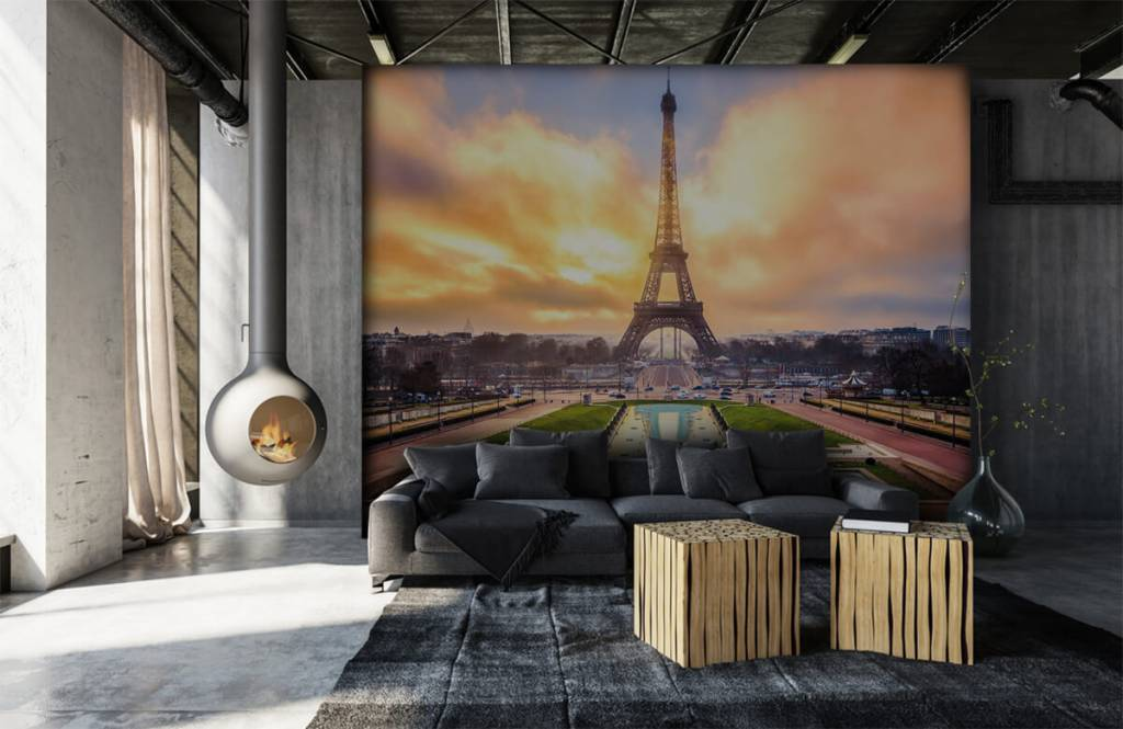 Städte - Tapete - Eiffelturm - Schlafzimmer 7