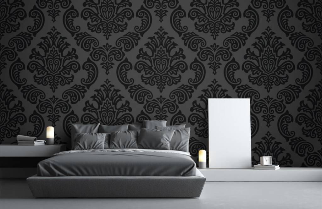 Barock Tapete - Dunkles Barock - Schlafzimmer 1
