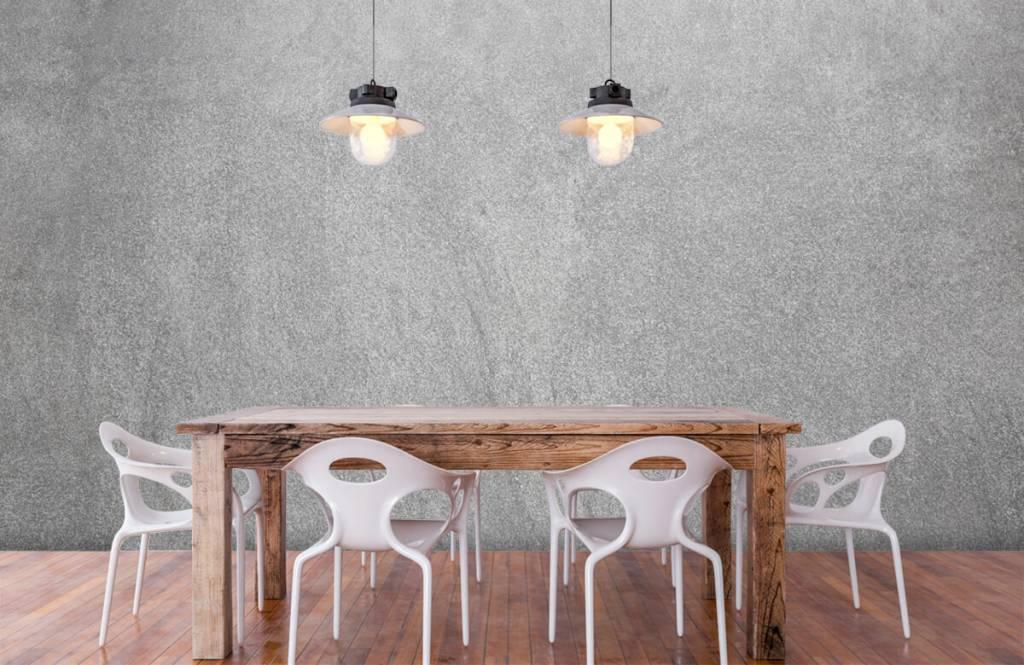 Betonoptik Tapete - Dunkel geschliffener Beton - Büro 6
