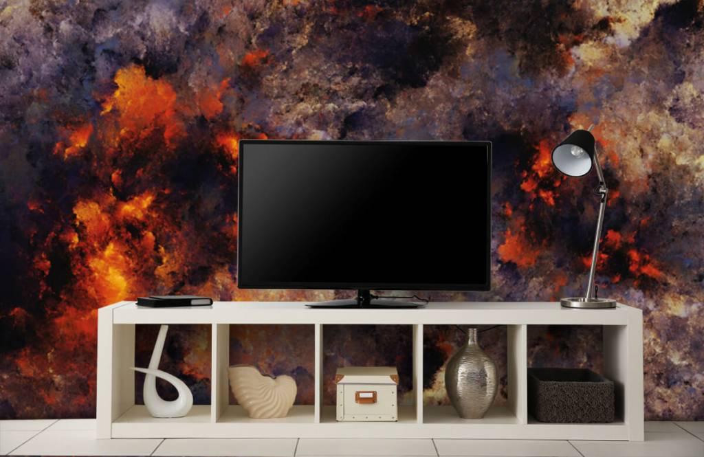 Abstrakte Tapete - Dunkle abstrakte Rauchwolken - Lagerhaus 1