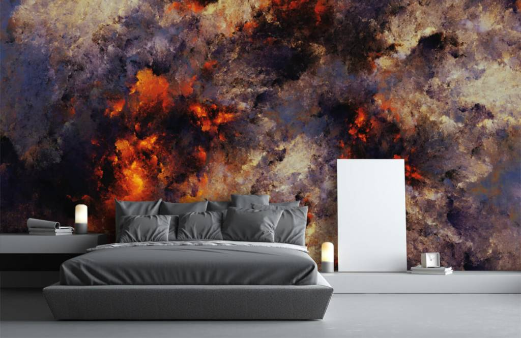 Abstrakte Tapete - Dunkle abstrakte Rauchwolken - Lagerhaus 3