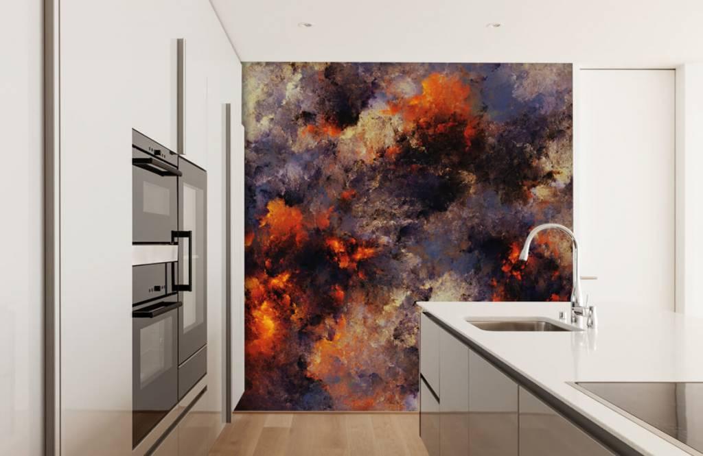 Abstrakte Tapete - Dunkle abstrakte Rauchwolken - Lagerhaus 4