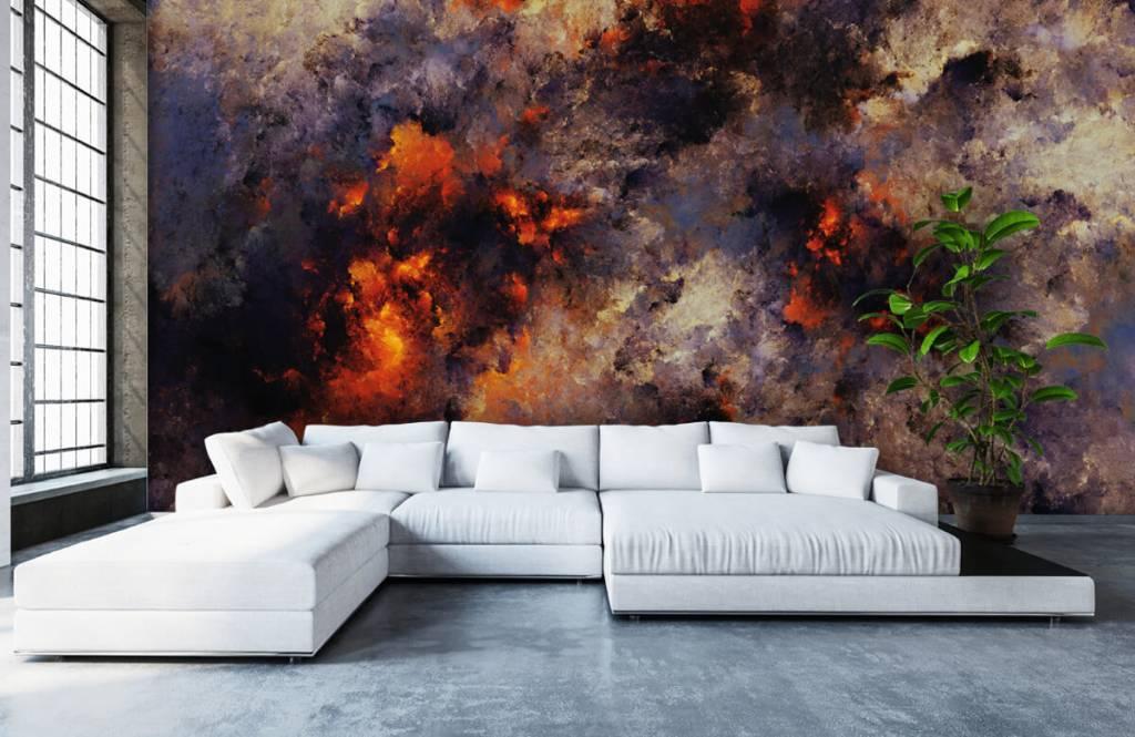 Abstrakte Tapete - Dunkle abstrakte Rauchwolken - Lagerhaus 5