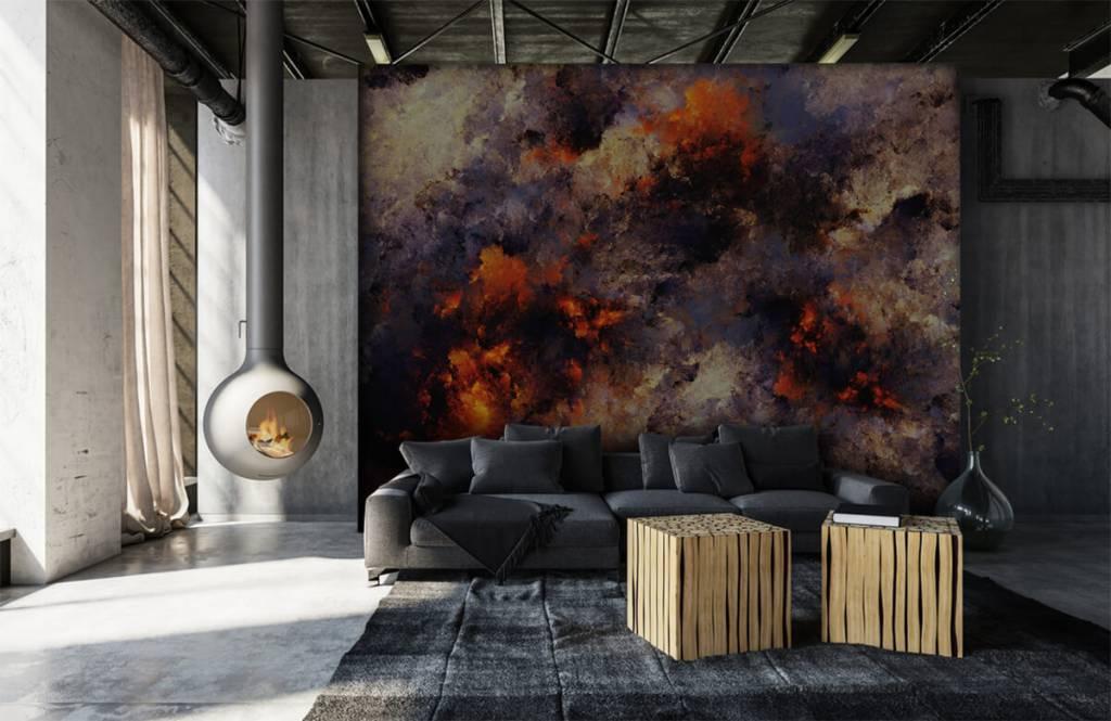 Abstrakte Tapete - Dunkle abstrakte Rauchwolken - Lagerhaus 6