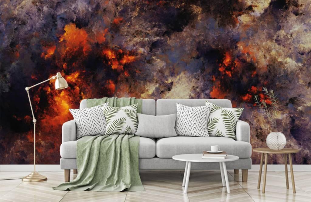 Abstrakte Tapete - Dunkle abstrakte Rauchwolken - Lagerhaus 7