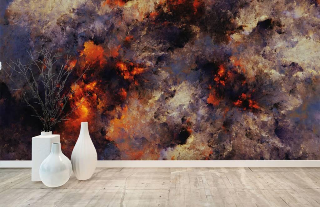 Abstrakte Tapete - Dunkle abstrakte Rauchwolken - Lagerhaus 8