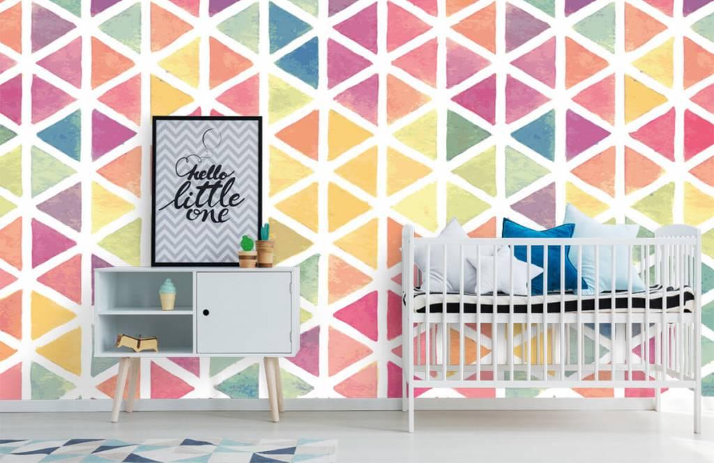 Andere - Dreiecke Aquarell - Kinderzimmer 3