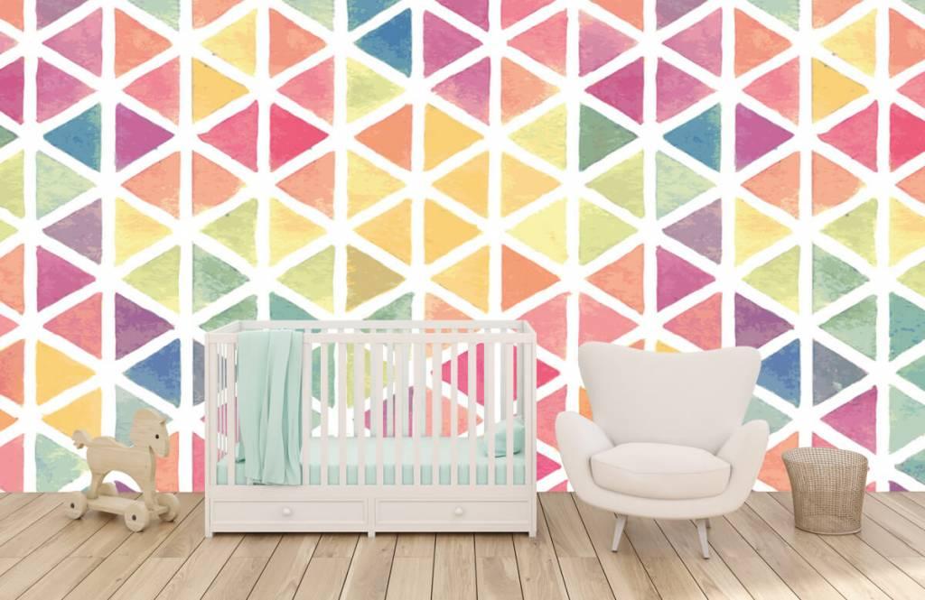 Andere - Dreiecke Aquarell - Kinderzimmer 4