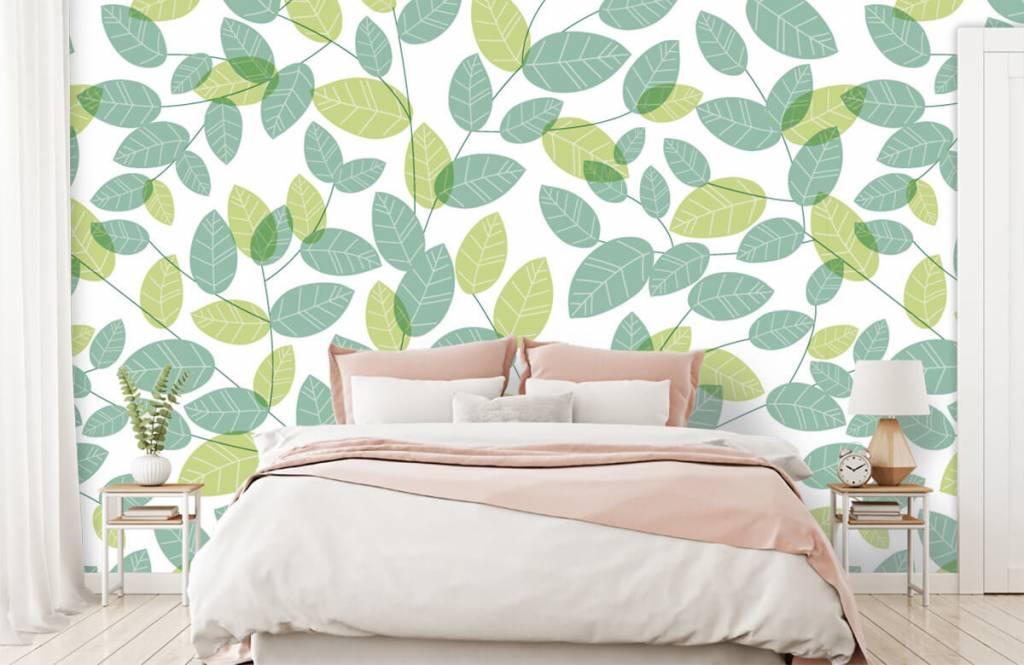 Blätter - Blättermuster - Hobbyzimmer 1