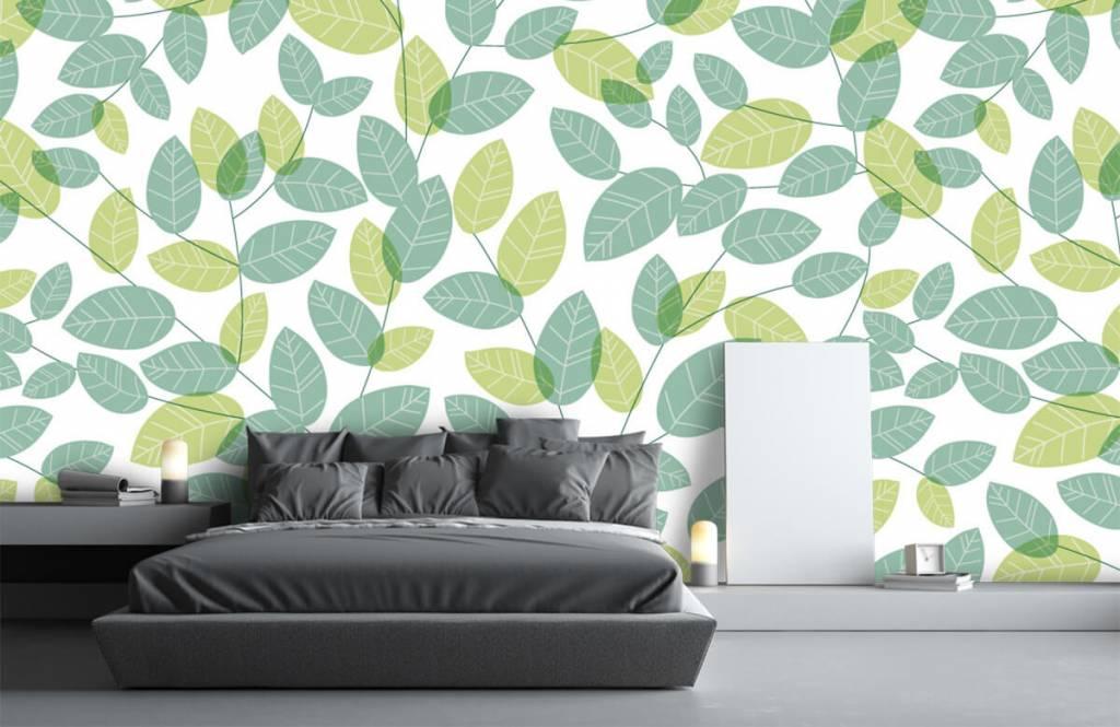 Blätter - Blättermuster - Hobbyzimmer 2