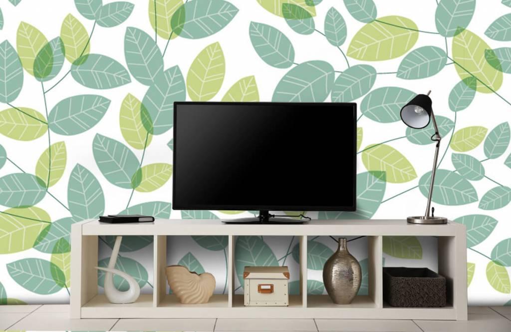 Blätter - Blättermuster - Hobbyzimmer 4
