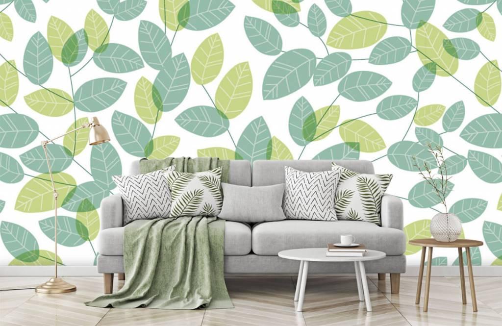 Blätter - Blättermuster - Hobbyzimmer 7