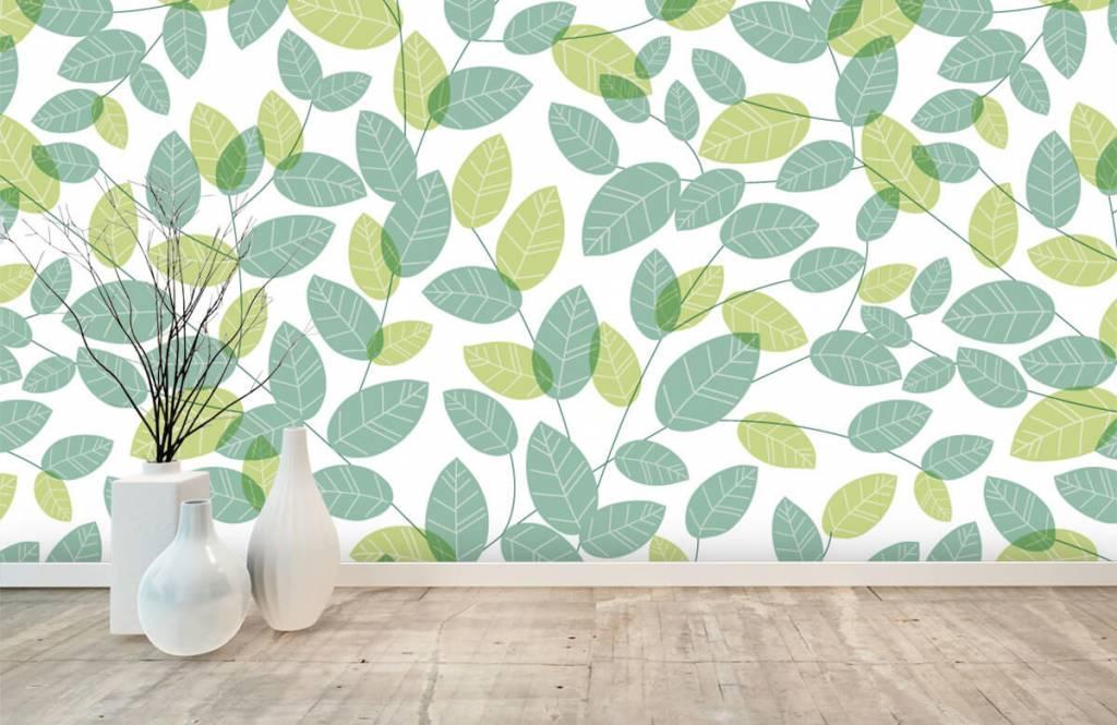 Blätter - Blättermuster - Hobbyzimmer 8