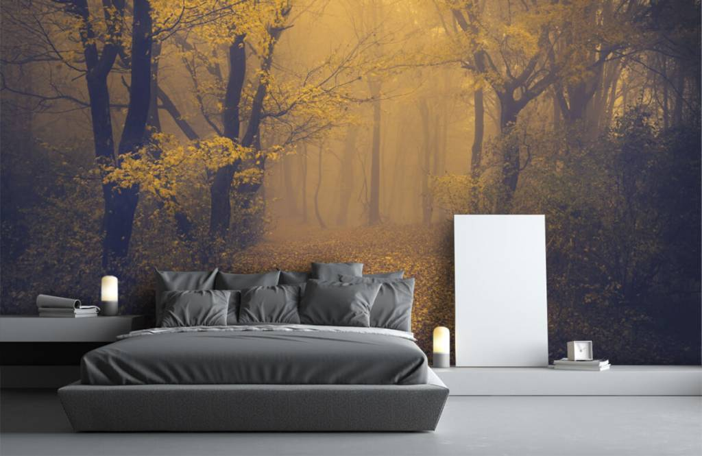 Wald Tapete - Dunkler Wald - Schlafzimmer 3