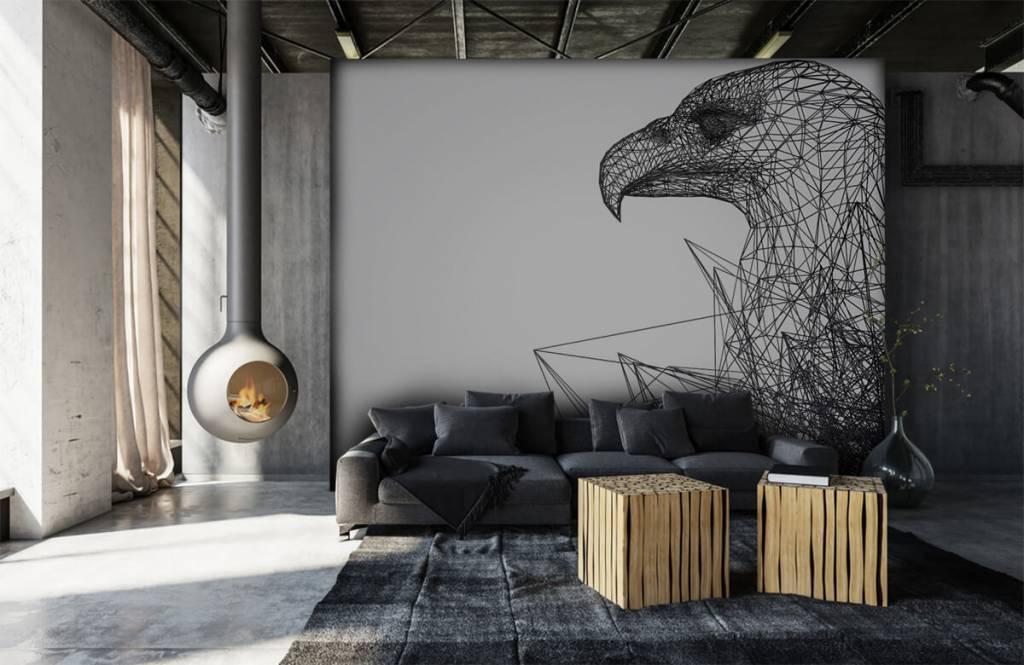 Animals - Abstrakter Falke - Cumputerzimmer 1