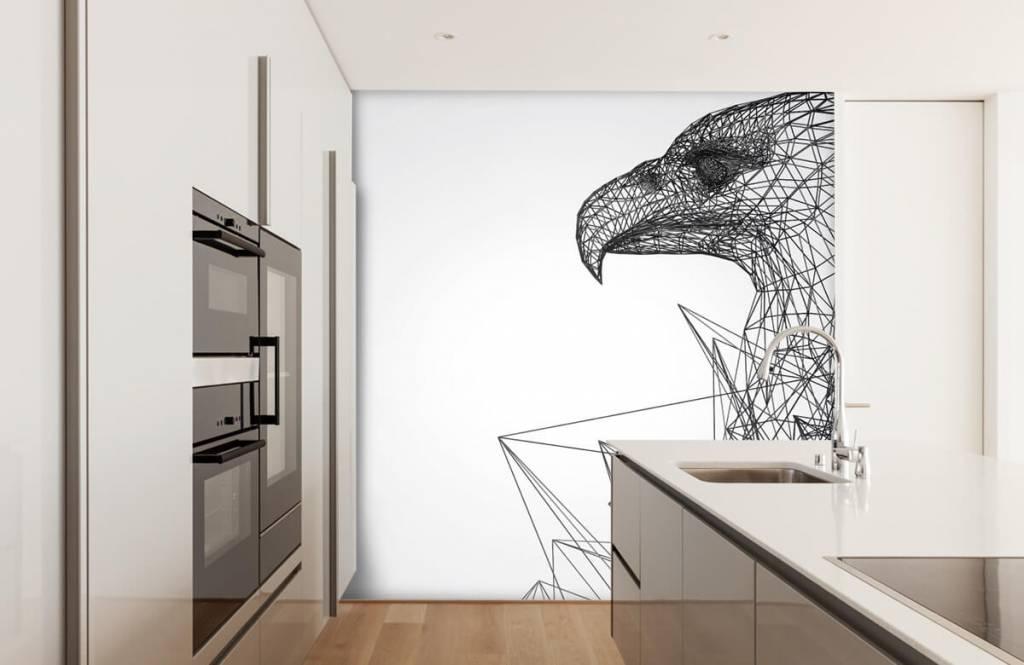 Animals - Abstrakter Falke - Cumputerzimmer 4