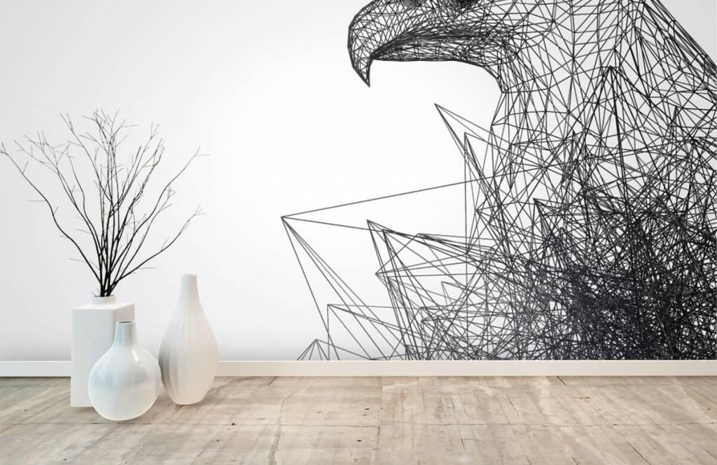 Animals - Abstrakter Falke - Cumputerzimmer 8