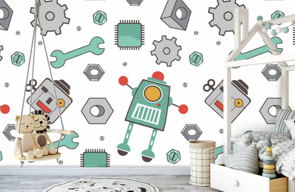 Kinder Tapete - Roboter - Kinderzimmer 1