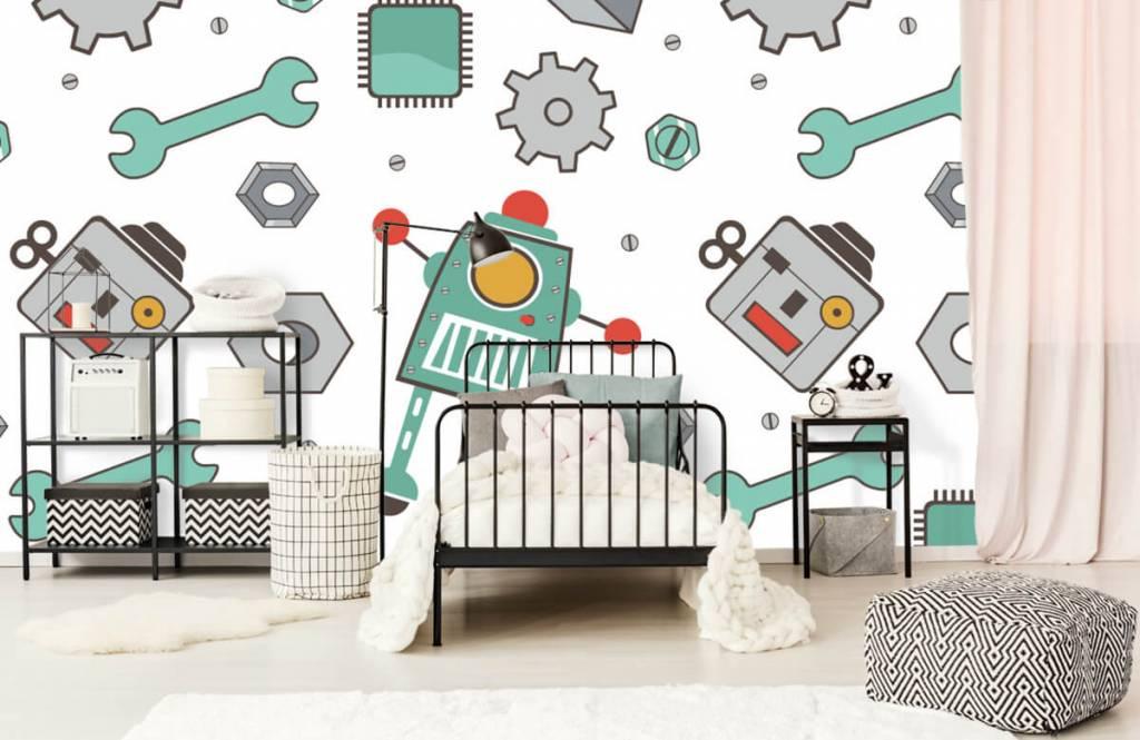 Kinder Tapete - Roboter - Kinderzimmer 2