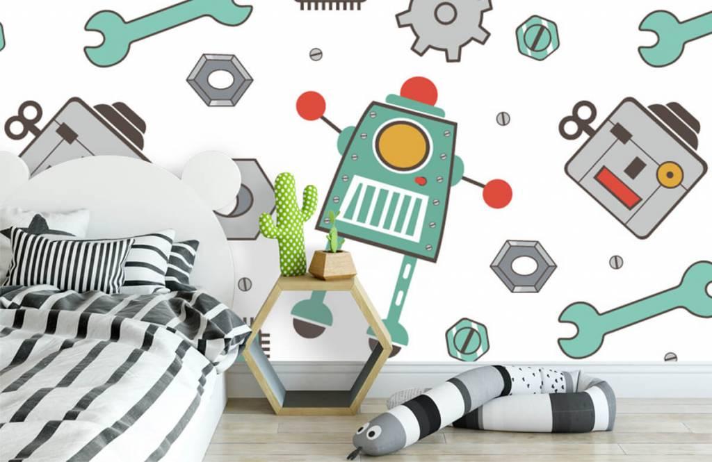Kinder Tapete - Roboter - Kinderzimmer 3