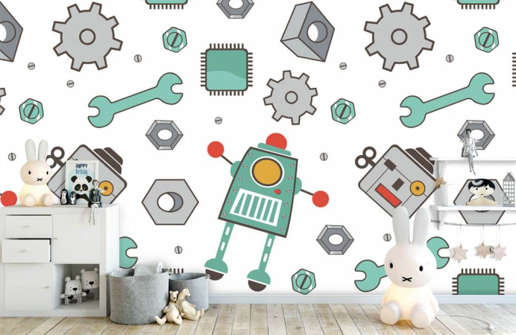 Kinder Tapete - Roboter - Kinderzimmer 4