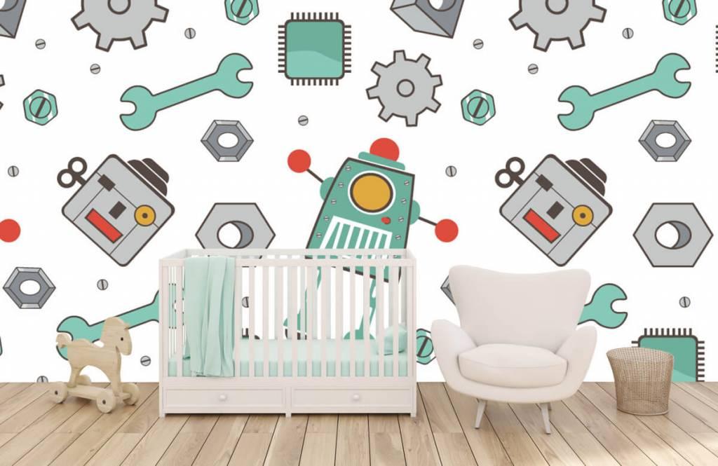 Kinder Tapete - Roboter - Kinderzimmer 5