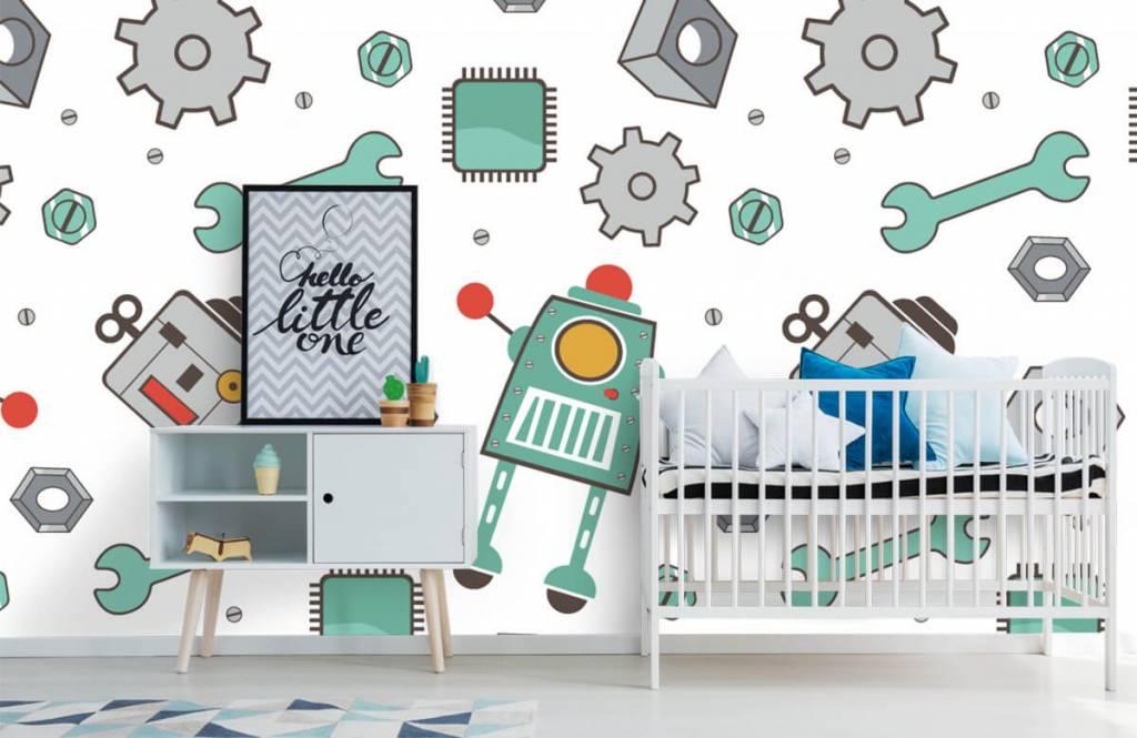 Kinder Tapete - Roboter - Kinderzimmer 6