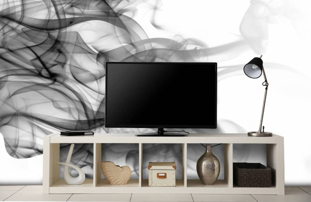 Moderne Tapete - Kopf aus Rauch - Büro 5