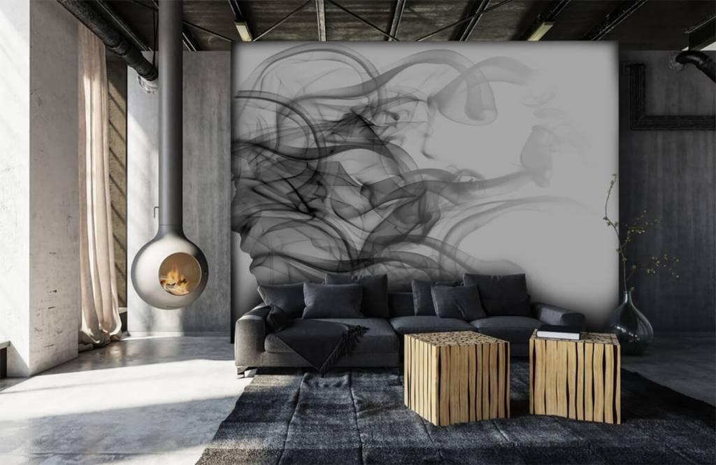 Moderne Tapete - Kopf aus Rauch - Büro 6