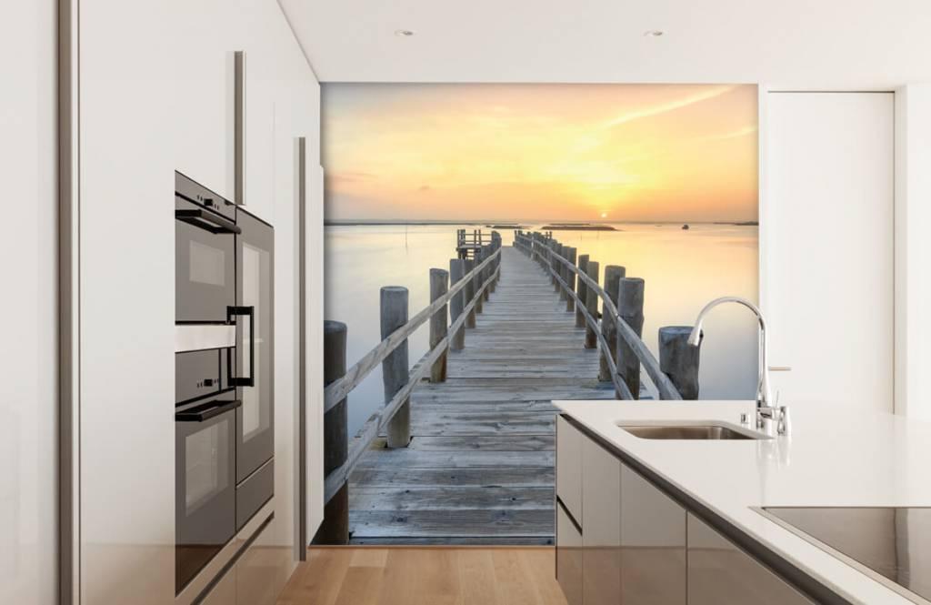 Seen und Gewässer - Anlegestelle bei Sonnenuntergang - Wohnzimmer 4