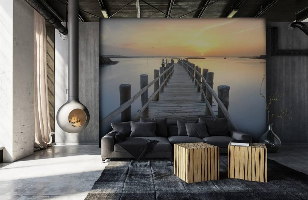 Seen und Gewässer - Anlegestelle bei Sonnenuntergang - Wohnzimmer 7