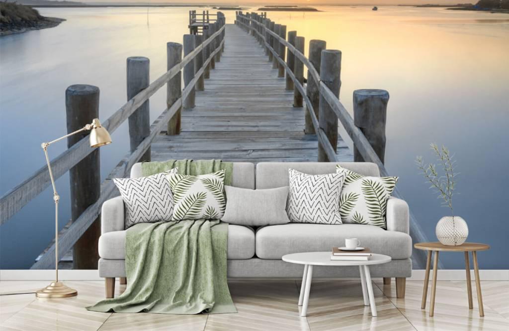 Seen und Gewässer - Anlegestelle bei Sonnenuntergang - Wohnzimmer 8
