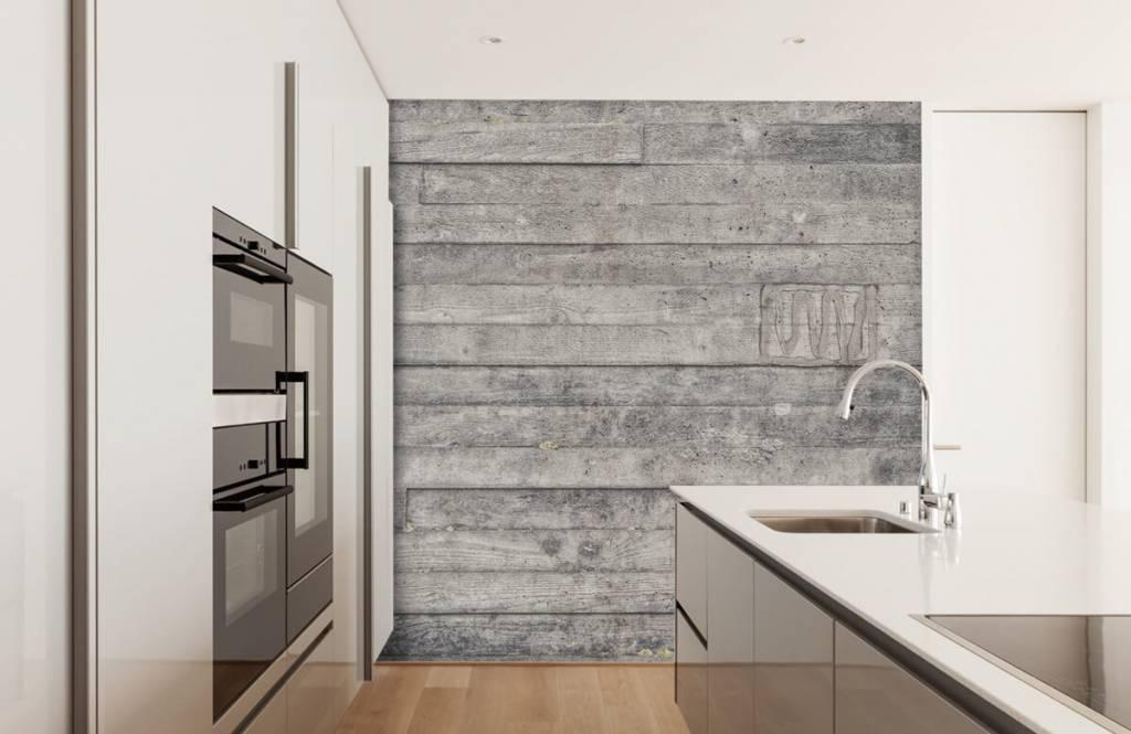 Holz Tapete - Eine graue Holzwand - Eingang 1