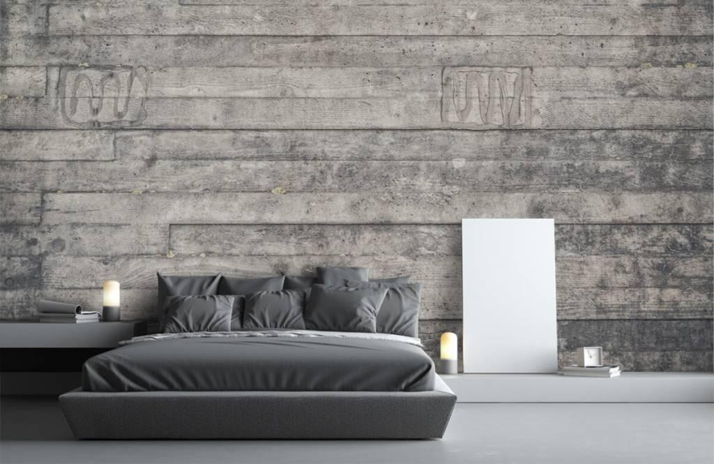 Holz Tapete - Eine graue Holzwand - Eingang 3