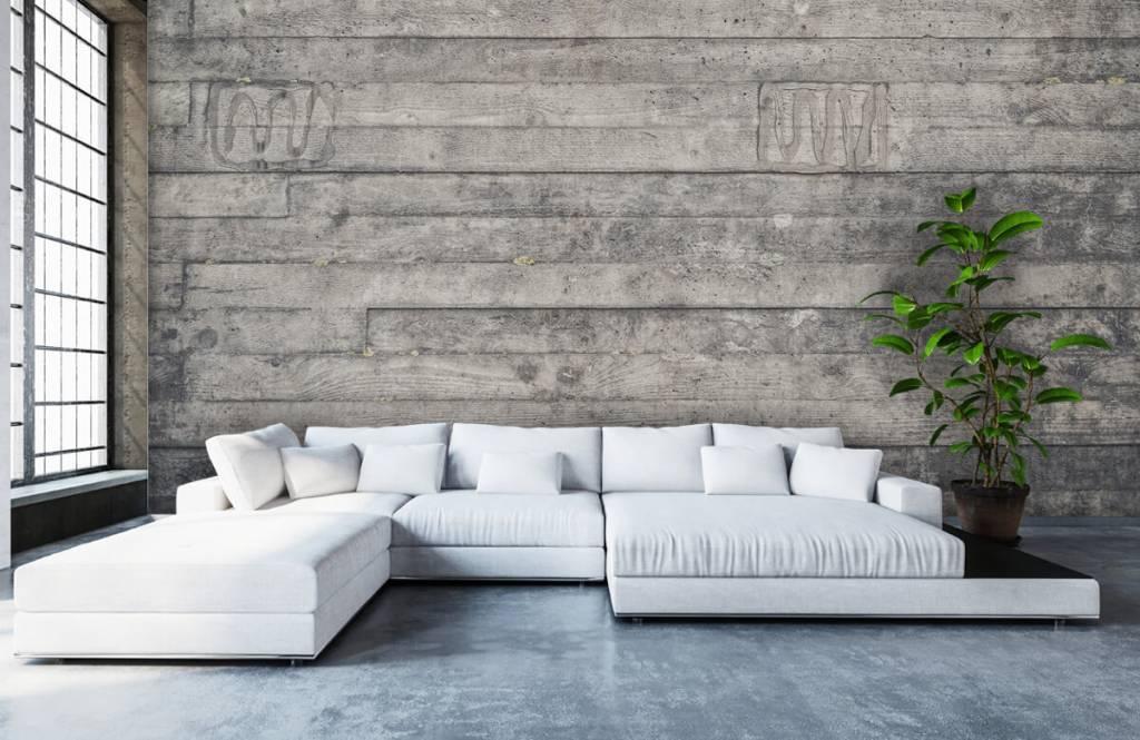 Holz Tapete - Eine graue Holzwand - Eingang 5