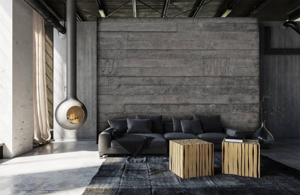 Holz Tapete - Eine graue Holzwand - Eingang 6
