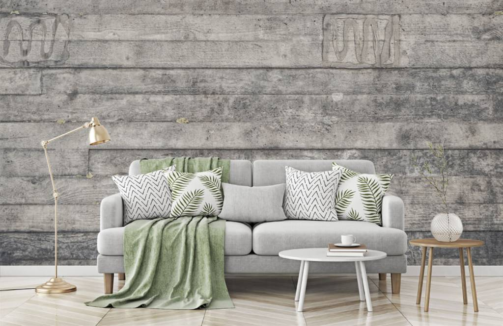 Holz Tapete - Eine graue Holzwand - Eingang 7