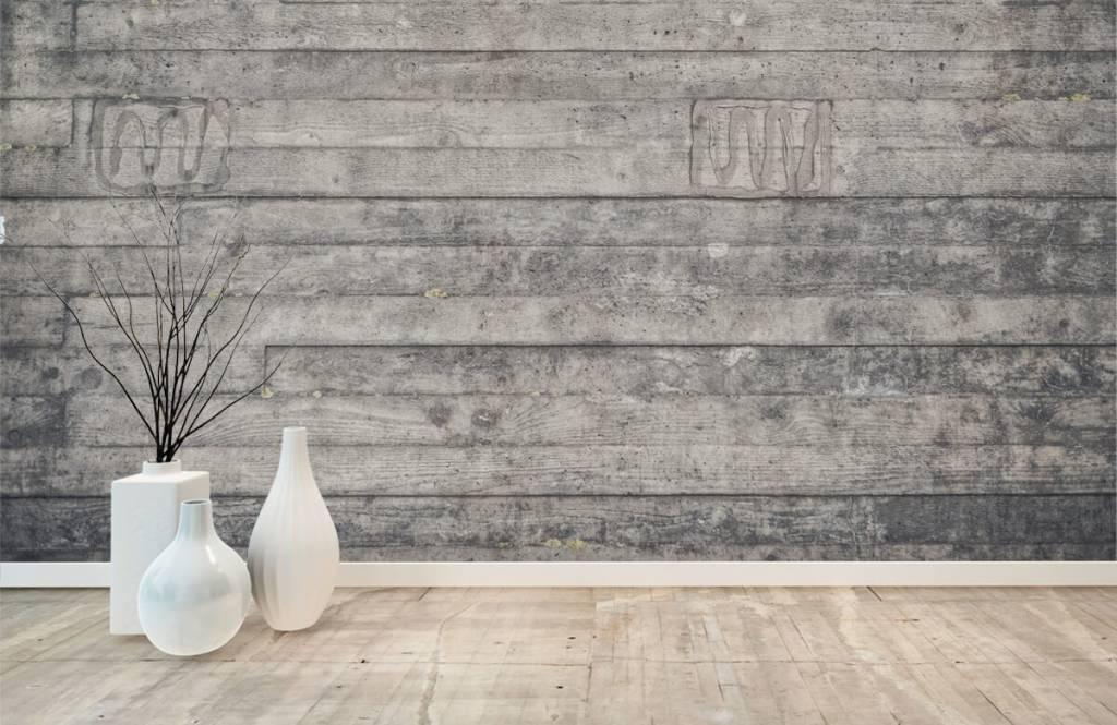 Holz Tapete - Eine graue Holzwand - Eingang 8
